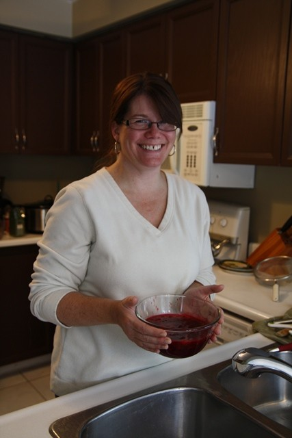 Deb with cranberry