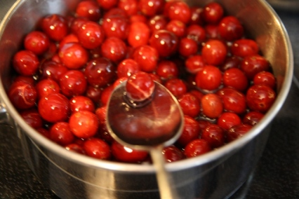 Popping cranberries