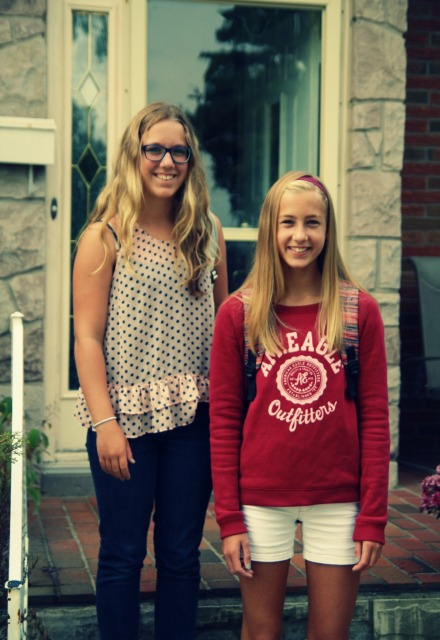 First Day of School Mallory & Sophia