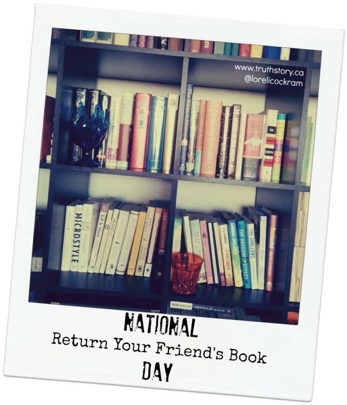 National Return Your Friend's Book Day